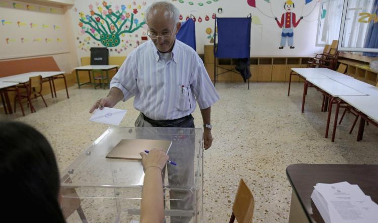 بدي عملية التصويت في اليونان