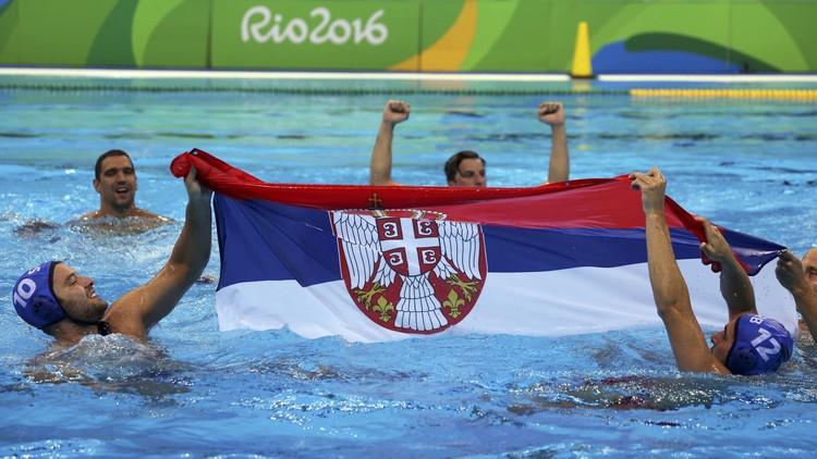 مباراة كرة الماء بين صربيا وكرواتيا