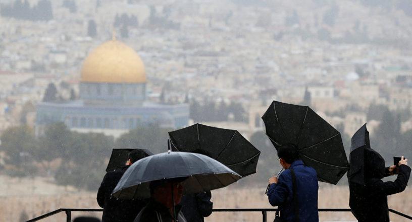 طقس فلسطين: اجواء غير مستقرة و توقعات بسقوط زخات مطرية غزيرة