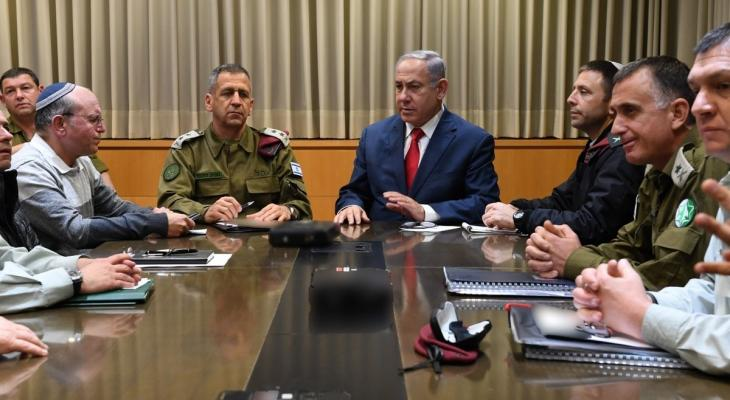 انتهاء اجتماع الكابينت حول التصعيد مع غزة