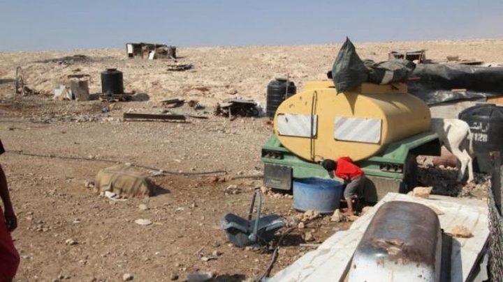 قوات الاحتلال تهدم خزان مياه في طوباس