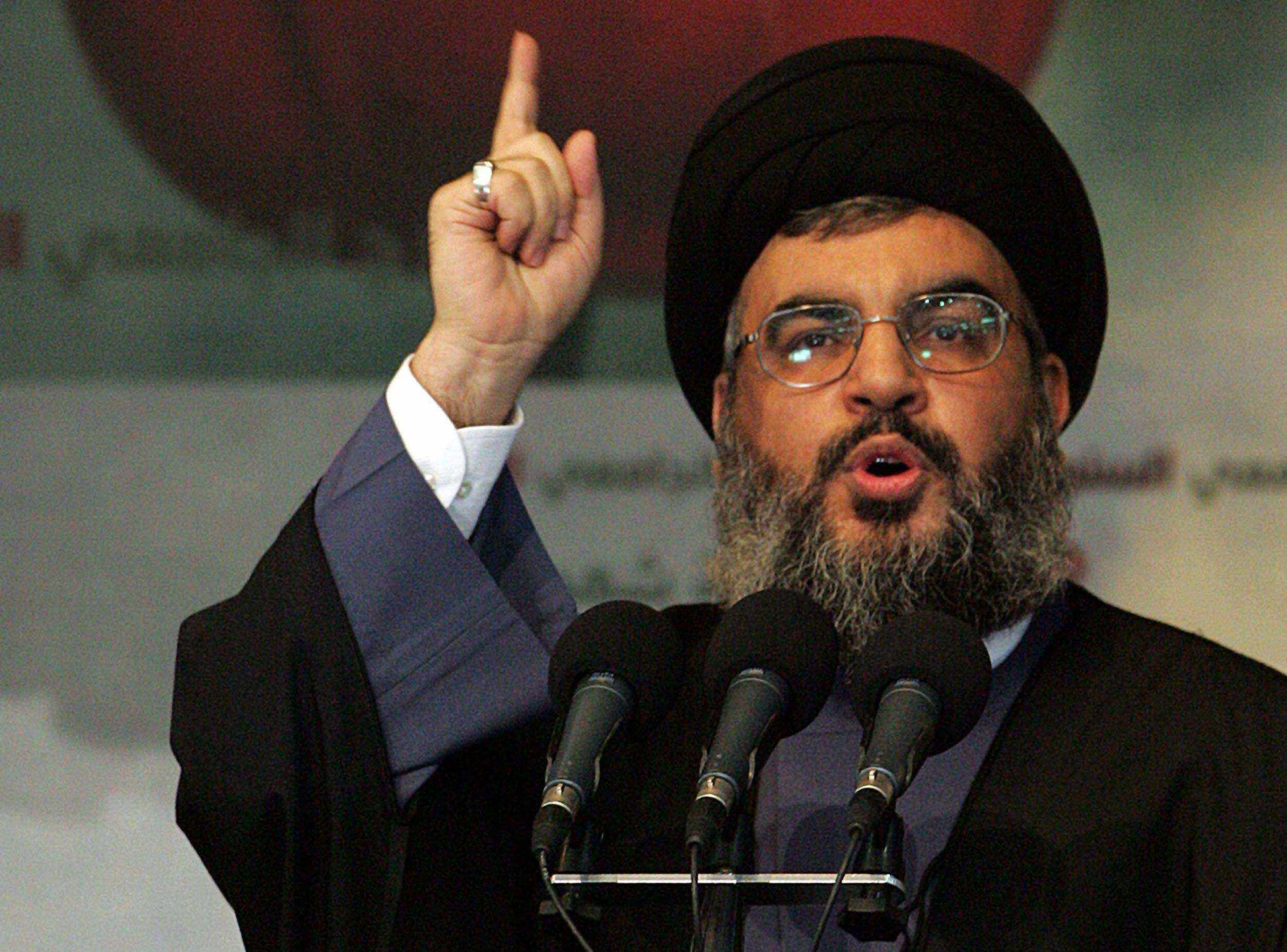 نصر الله: من يريد أن يرفع إسرائيل سيسقط معها