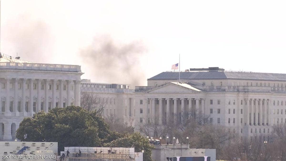 """""""تهديد أمني خارجي"""" يغلق مبنى الكونغرس الأميركي"""