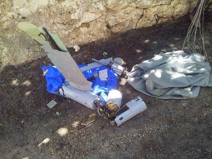 سقوط طائرة تجسس إسرائيلية