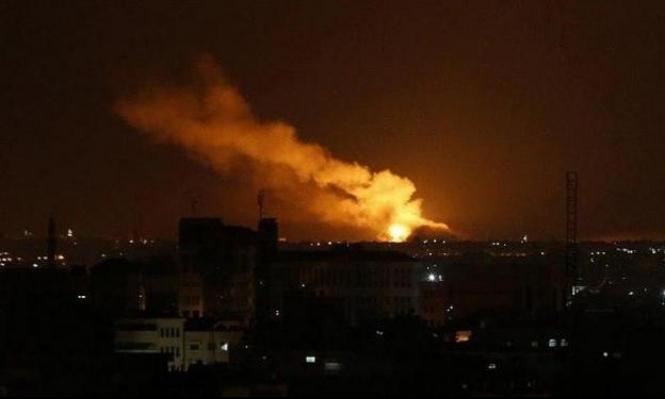 الاحتلال يقصف موقعا شمال قطاع غزة