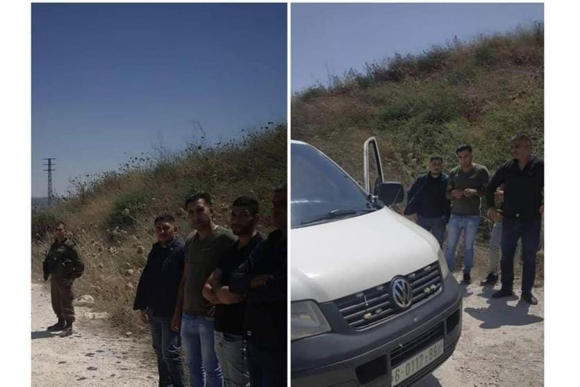 الاحتلال يحتجز 4 من ضباط الشرطة الفلسطينية على حوارة