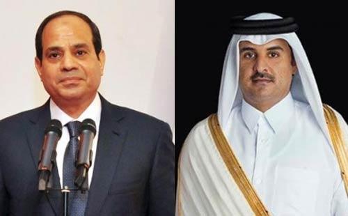 السيسي وامير قطر