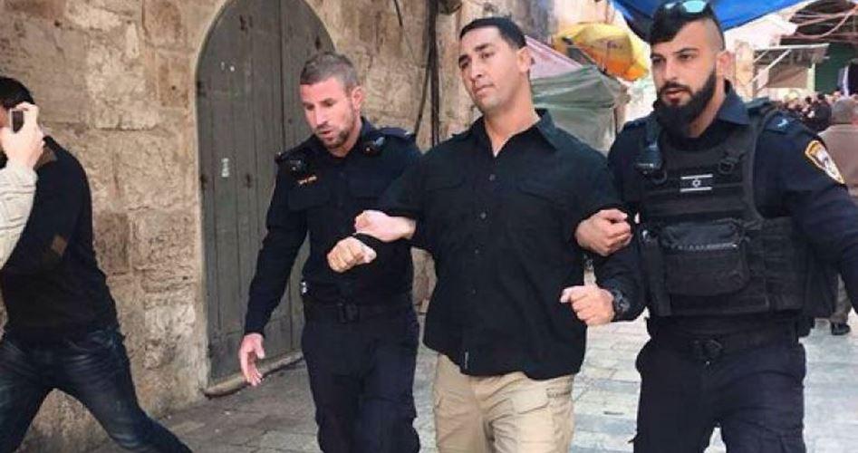 اعتقال حارس المسجد الأقصى