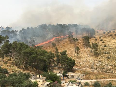 """الاعلام العبري: اندلاع حريق في في منطقة """"غلاف غزة"""""""