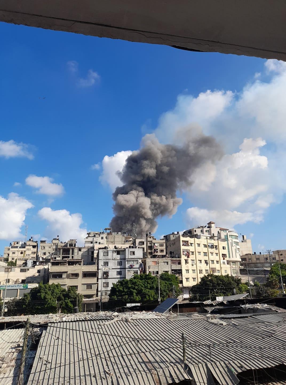 بالصور إصابات في انفجار غامض شرق مدينة غزة