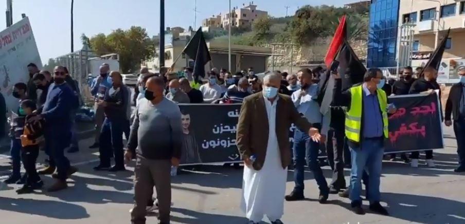تظاهرة حاشدة بأم الفحم تندد بالجريمة وتواطؤ الشرطة الإسرائيلية
