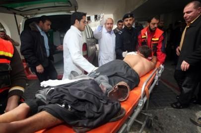 إصابة مواطن غزة