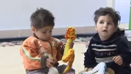 طفلان فلسطينيان