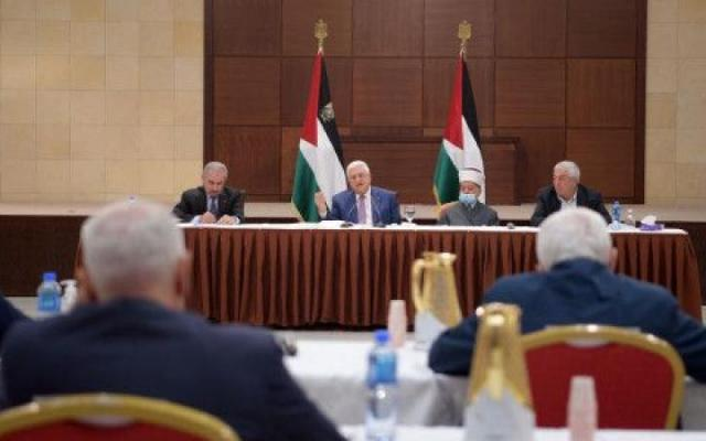 أهم قرارات القيادة الفلسطينية في اجتماعها الليلة برئاسة الرئيس