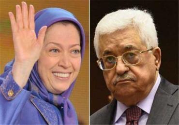 الرئيس محمود عباس والسيدة مريم رجوي