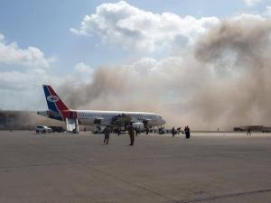 قتلى وجرحى.. حصيلة كبيرة لهجوم مطار عدن