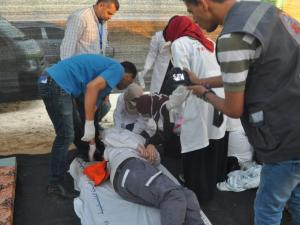 الهلال: إصابة العشرات بينها خطيرة والاحتلال يمنع اسعاف الجرحى في القدس