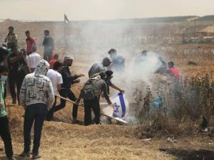 إصابة 5 متظاهرين برصاص الاحتلال شرق قطاع غزة