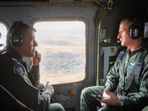 قائدا سلاح الجو الأمريكي والإسرائيلي في طلعة جوية مشتركة
