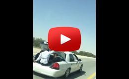 Embedded thumbnail for سائق أجرة ينقل الركاب في صندوق السيارة بالسعودية