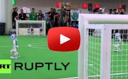 Embedded thumbnail for روبوتات ألمانيا تسعى للتفوق على البشر في كرة القدم بحلول عام 2050