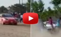 Embedded thumbnail for  سيارة سباق تقتل 4 من المتفرجين