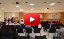 Embedded thumbnail for مؤتمر صحفي خاص للإعلان عن الحملة الوطنية لمساعدة مرضى السرطان بشراكة بنك فلسطين وجمعية الهلال الأحمر الفلسطيني وفرقة الثلاثي جبران