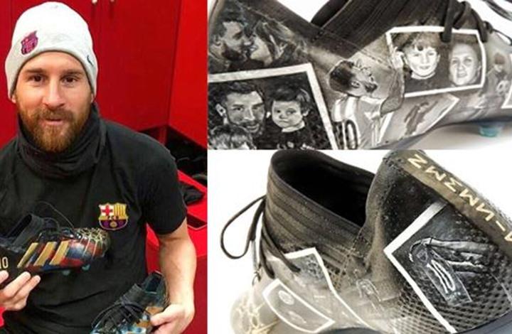 """ليونيل ميسي يستفز جماهير ريال مدريد بـ""""حذائه الجديد"""""""
