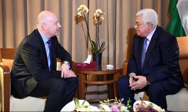 """غرينبلات: الولايات المتحدة لا تسعى لاستبدال """"عباس"""""""
