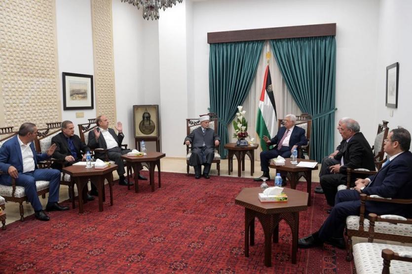 الرئيس يترأس اجتماعا عاجلا لمتابعة الأحداث بالأقصى