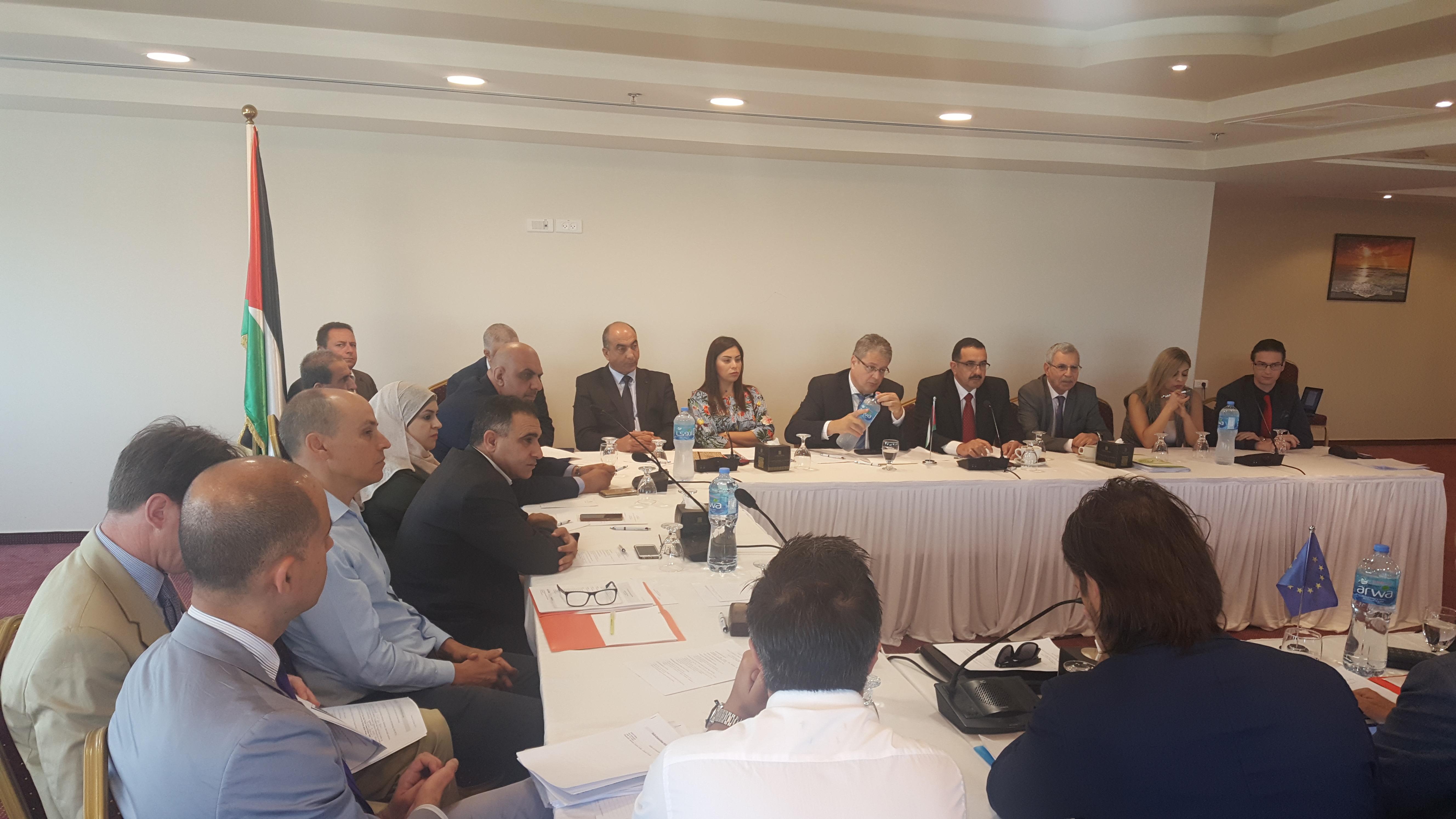 اجتماع اللجنة الأوروبية الفلسطينية الفرعية المشتركة لقطاعات الطاقة والمياه والبيئة والمواصلات