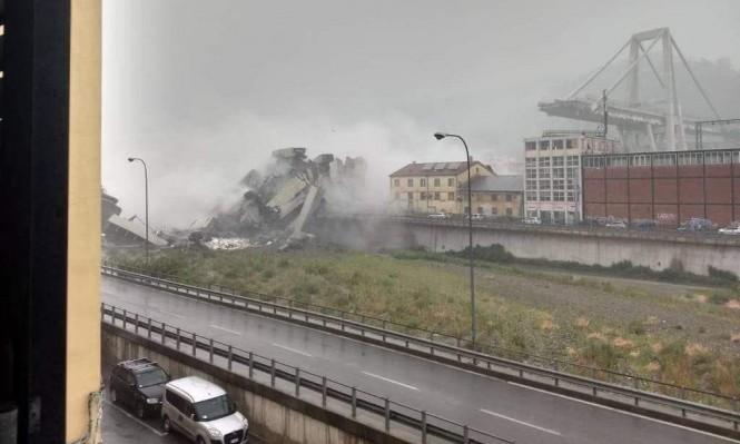 انهيار جسر شمالي إيطاليا وأنباء عن عشرات الضحايا