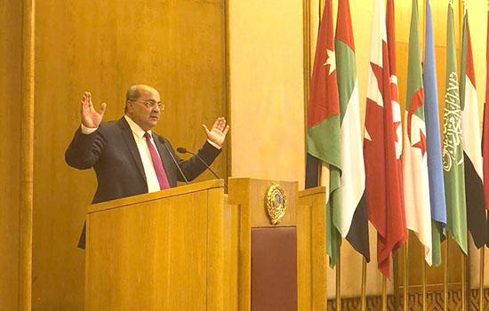 الطيبي يلقي خطابا في جامعة الدول العربية