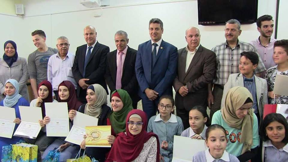 """""""بنك القدس"""" يكرم  الطلبة الفائزين في مسابقة SABRI  ضمن مديرية التربية والتعليم لمحافظة سلفيت"""