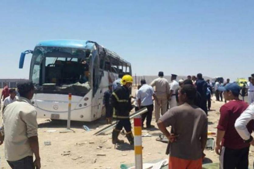 7 قتلى و13 جريحا بهجوم على حافلة أقباط في المنيا