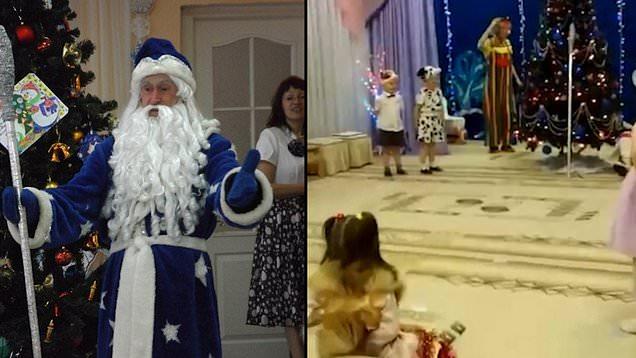 """وفاة """"بابا نويل"""" خلال عرض أمام أطفال (شاهد)"""