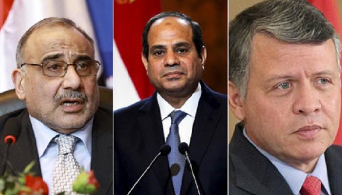 قمة ثلاثية تبحث التحديات الأمنية المشتركة لمصر والأردن والعراق