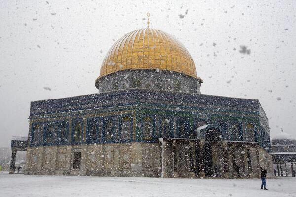 الأرصاد الإسرائيلي: فلسطين ستتأثر بمنخفض تركي غداً والقدس تكتسي بالأبيض الجمعة