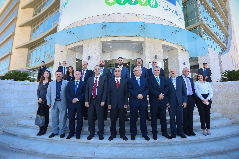 الامين العام للاتحاد الدولي للاتصالات يزور مجموعة الاتصالات الفلسطينية