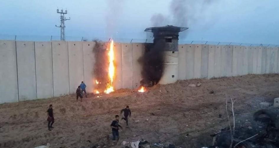 إطلاق نار تجاه الشبان وحرائق بفعل بالونات حارقة شرق غزة