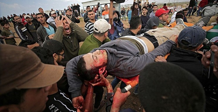47 إصابة بالرصاص خلال قمع الاحتلال للمسيرة المليونية شرق قطاع غزة