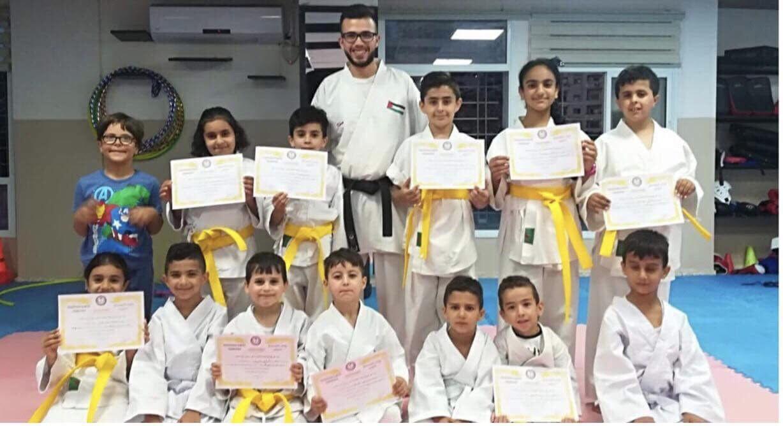 تخريج الفوج الثاني من طلاب الكراتيه في نادي شباب رام الله بإشراف المدرب إياد الدهدار