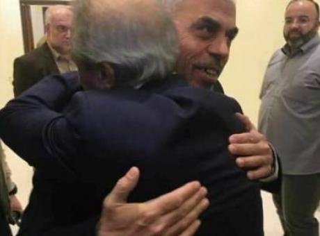 اجتماع بين اللواء ماجد فرج و يحيى السنوار في غزة
