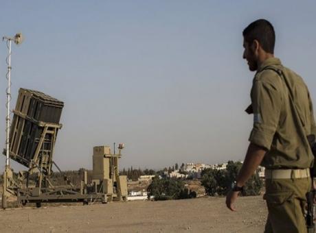 اعتراض صاروخ في غلاف غزة