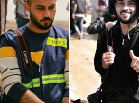 استشهاد الصحفي أحمد أبو حسين