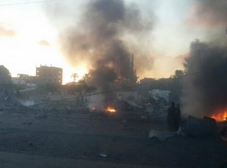 انفجار بغزة والاحتلال يستنفر قواته على الشريط الحدودي
