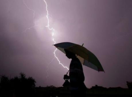 حالة الطقس: امطار مصحوبة بعواصف رعدية