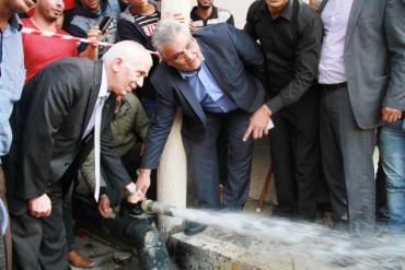 الوزير غنيم: سنعمل على توفير مياه آمنة لأطفالنا في الفوار