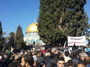 صور من صلاة الجمعة في المسجد الأقصى