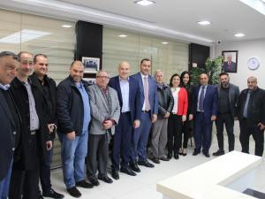 بنك القدس يزور غرفة التجارة والصناعة لمحافظة رام الله